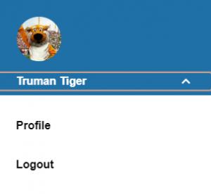 MU Connect Profile menu